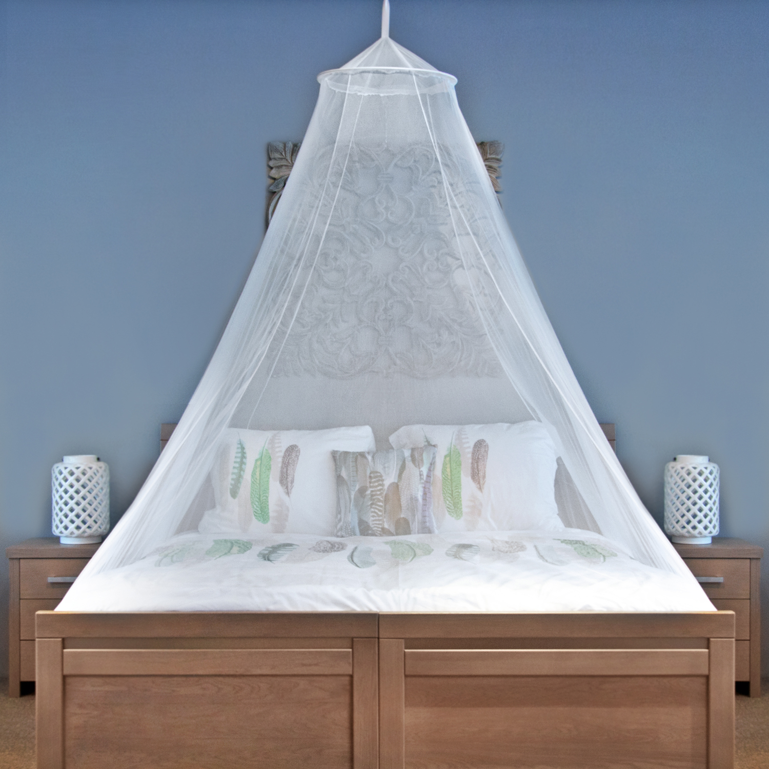 Universal Backpackers King Size Mosquito Net With New Tear