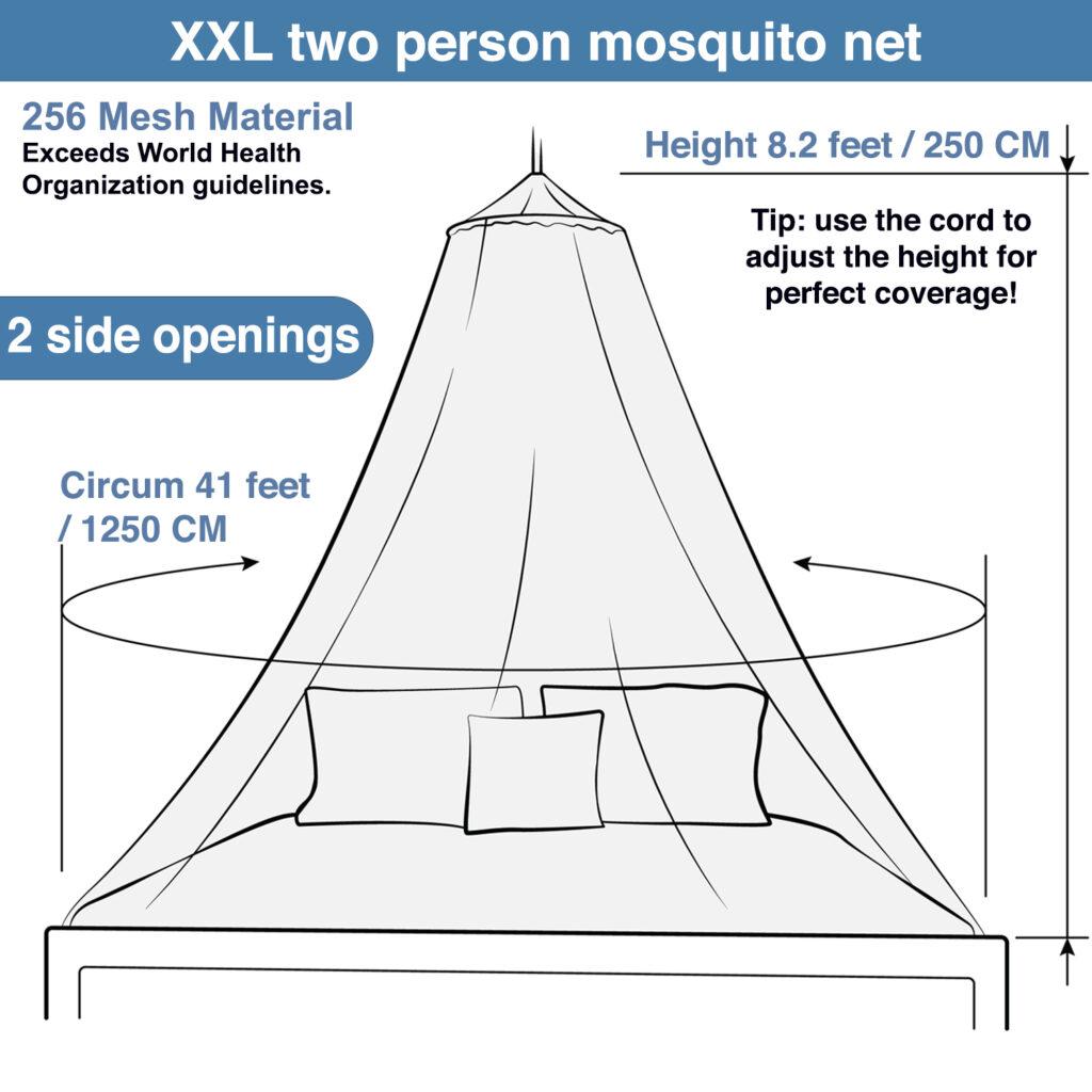 4. Mosquito net line art